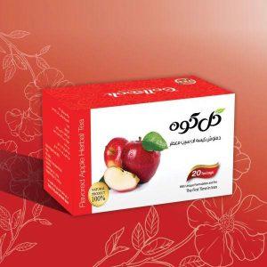 دمنوش میوه ای صددرصد طبیعی سیب معطر گل کوه