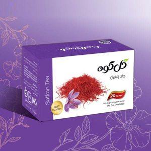 دمنوش صددرصد طبیعی چای زعفران گل کوه ( ۲۰ عددی )