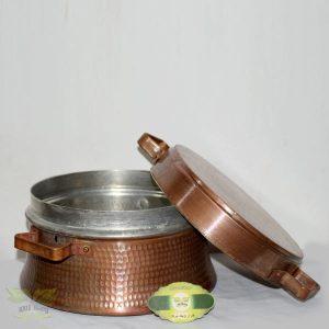 قابلمه مسی دسته دار با قطر ۱۸ سانتی متر
